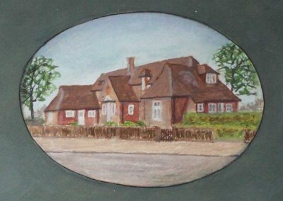Jesse Mary Chambers Almshouses illustration by DM Hibbe, 2004 - elderly accommodation in Cheltenham
