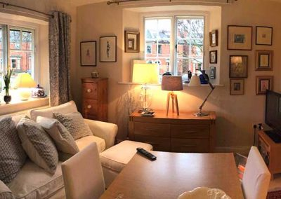 Naunton Park Hays Cottages Almshouses living room